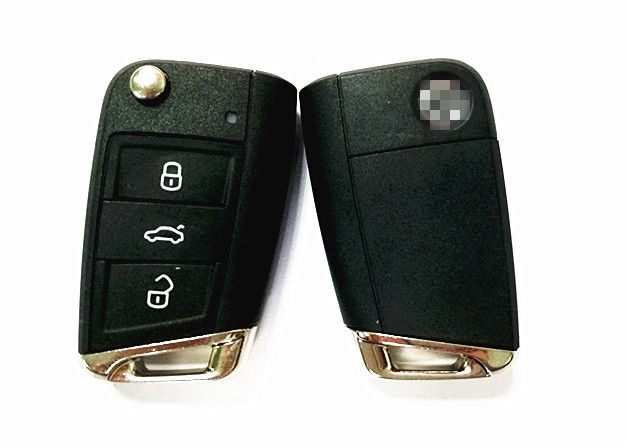 3 Button Remote Flip Car Key Fob Case , VW Golf Car Key 5G6 959 753 AB