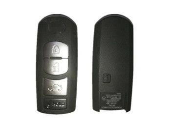 SKE13E-01 433 MHZ Mazda Car Key Black Color 3 Button Remote Key Fob With Logo